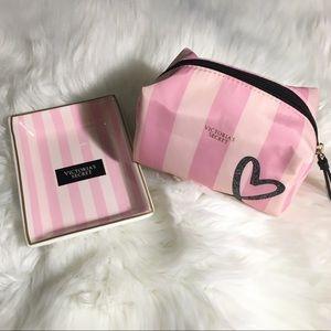 Victoria Secret Trinket Dish & Matching Makeup Bag